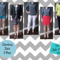 chambray shirt 5 ways