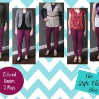 colored denim 5 ways