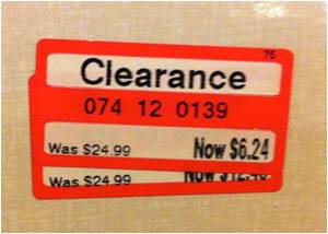 clearance tags