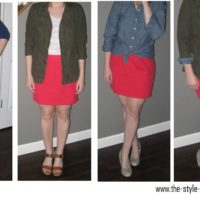 Coral skirt 4 ways