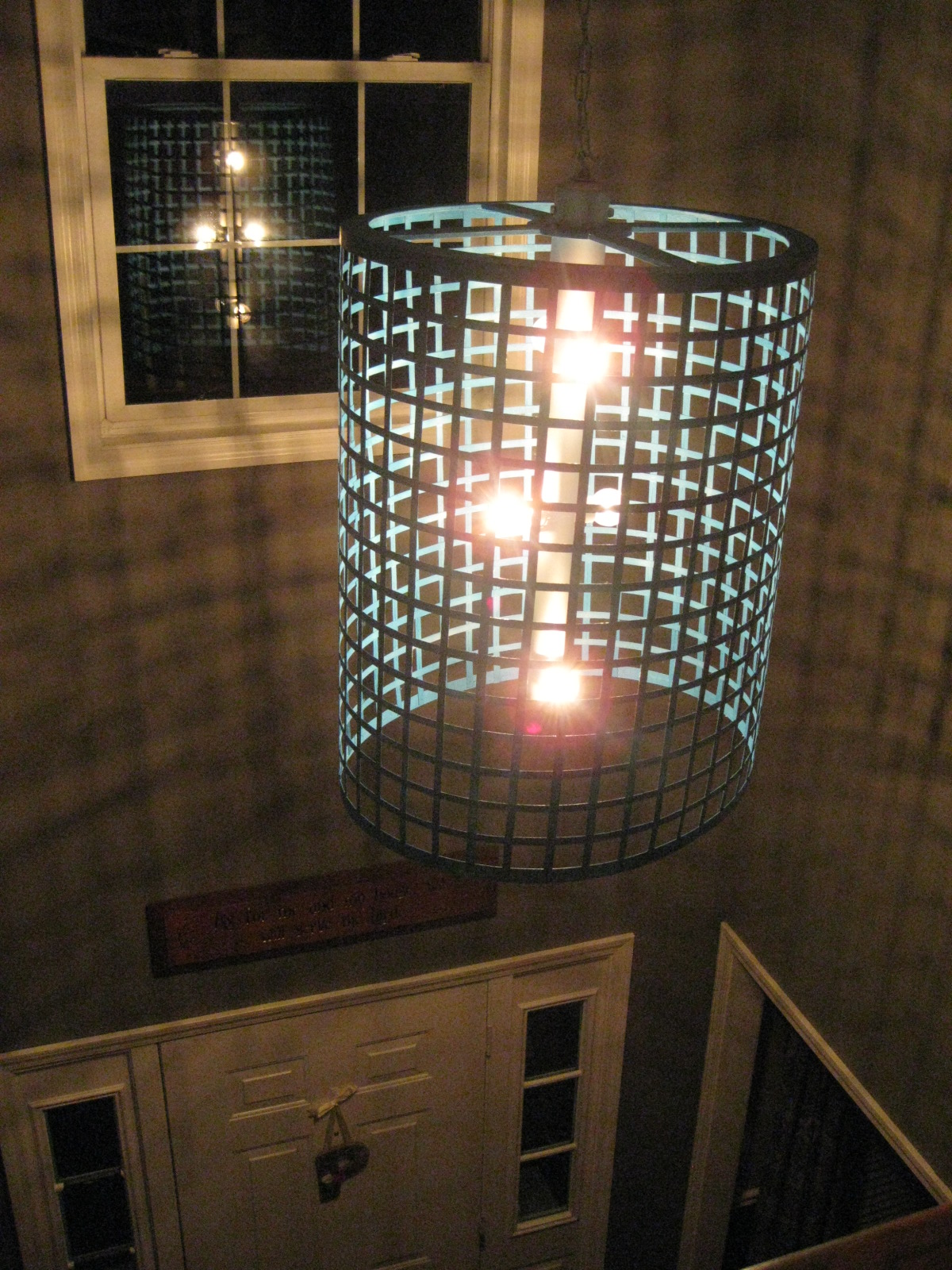 Diy chandelier light fixture the style files and if we decide to soften the light coming from the fixture we can always interweave burlap pieces throughout for a totally different look based on the arubaitofo Images