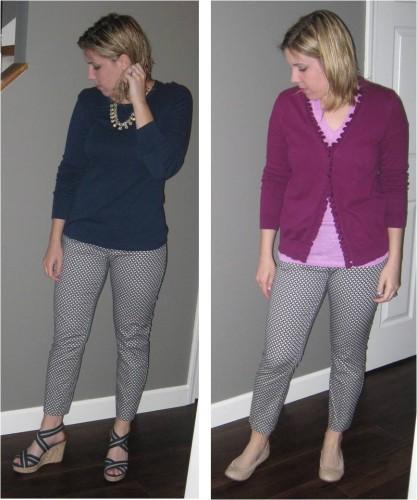 Printed pants 2 ways