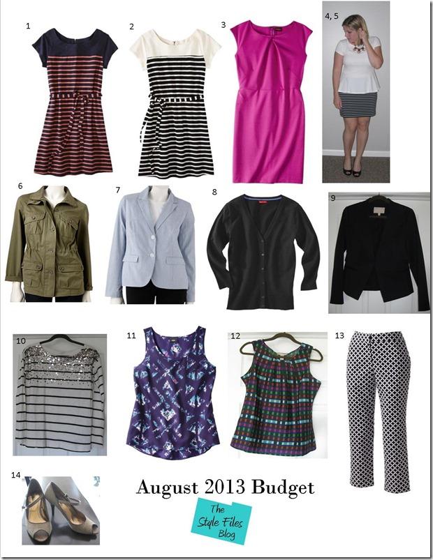 Aug 2013 Budget