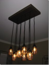DIY Chandelier with Mason Jars