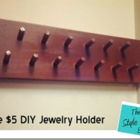The $5 DIY Jewelry Holder
