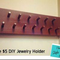 The $5 DIY Jewelry Holder