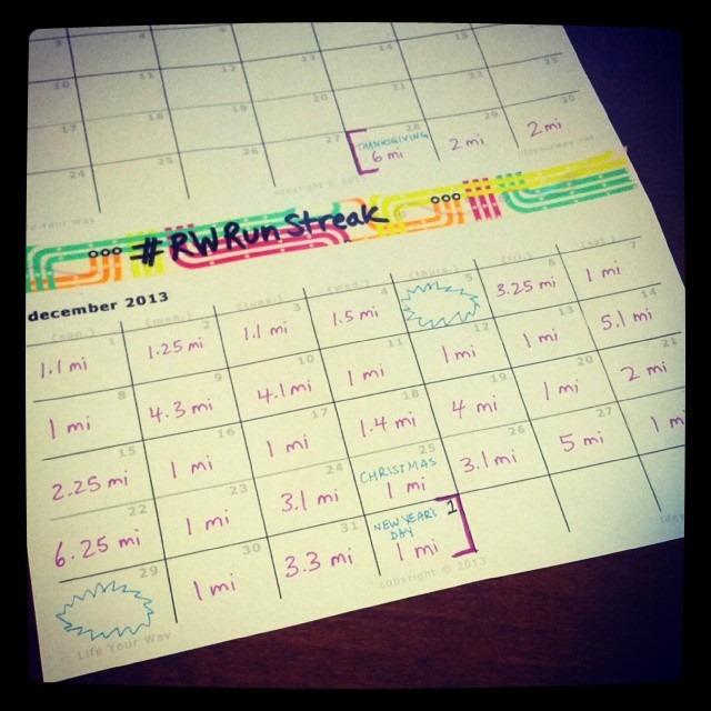 Calendar Half Sheet : Rwrunstreak recap the style files