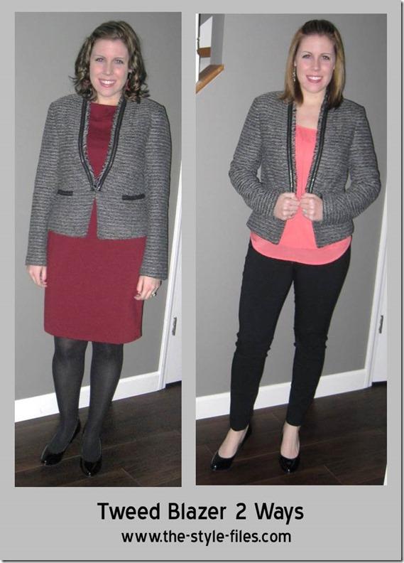 tweed blazer 2 ways