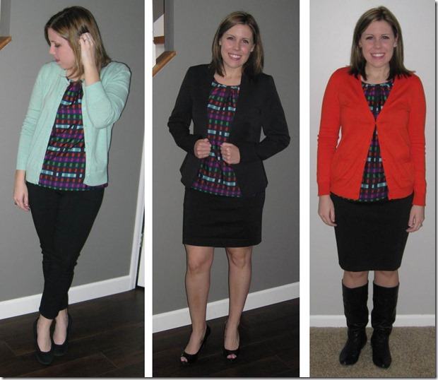 Geometric multicolor shell top remix- The Style Files blog