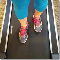running on the treadmill