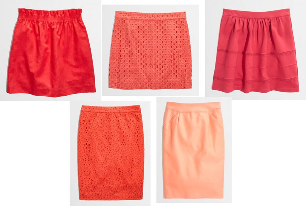 J And J Corals skirts from j crew factory
