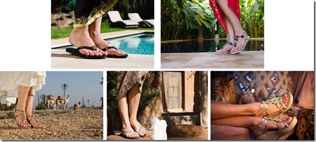 fibi & clo resort sandal collection