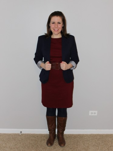 ootd- maroon and navy
