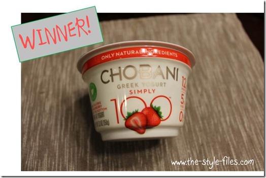 chobani winner