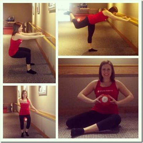 pure barre poses