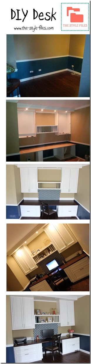 DIY desk/office with custom built-ins- The Style Files blog: www.the-style-files.com