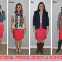 coral skirt 4 ways
