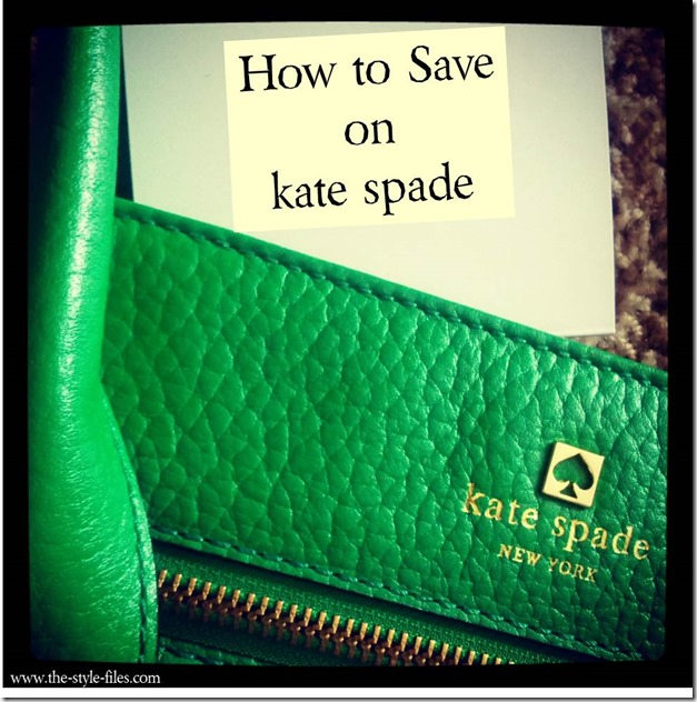 how to save on kate spade