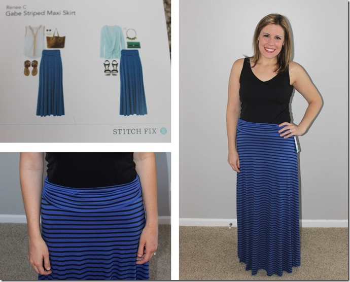 Stitch Fix- Gabe Striped Maxi Skirt