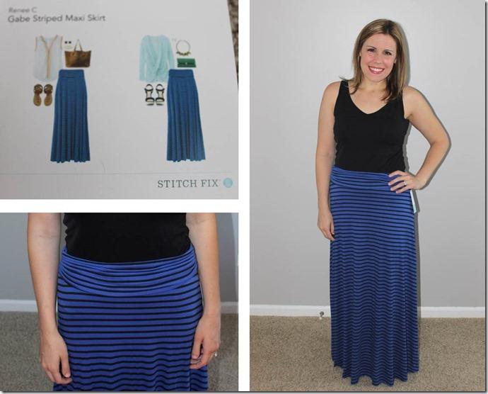 Stitch Fix- Gabe Striped Maxi Skirt