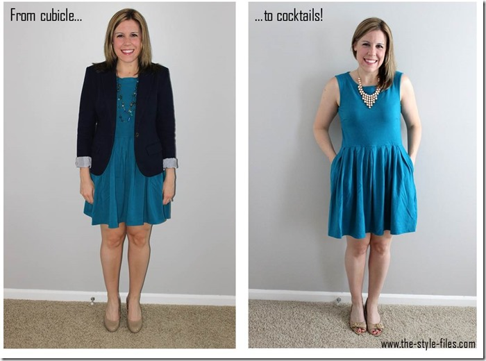 skirted dress- from cubicle to cocktails