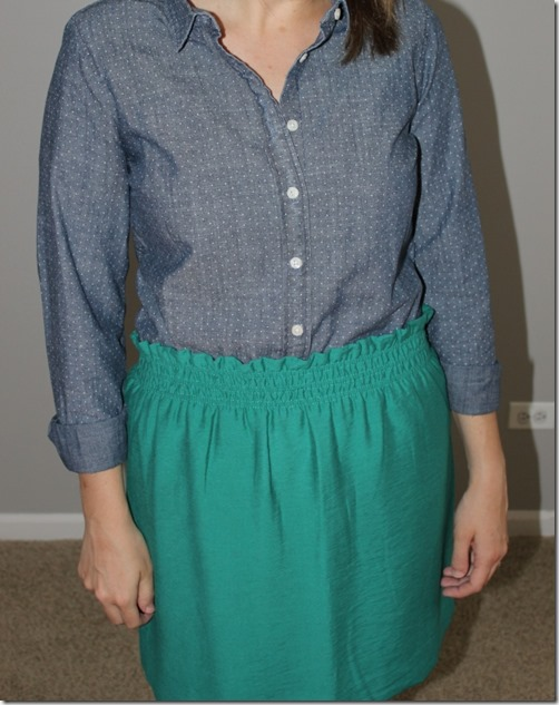 closet up: chambray and linen city mini skirt, j crew