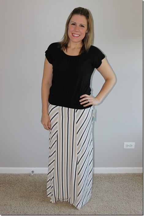 stitch fix Mallory Mixed Stripe Maxi Skirt by Gilli