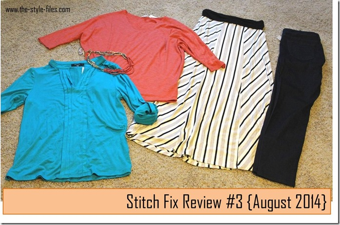 Stitch Fix Review 3- August 2014