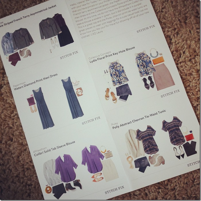 stitch fix review september 2014 style cards