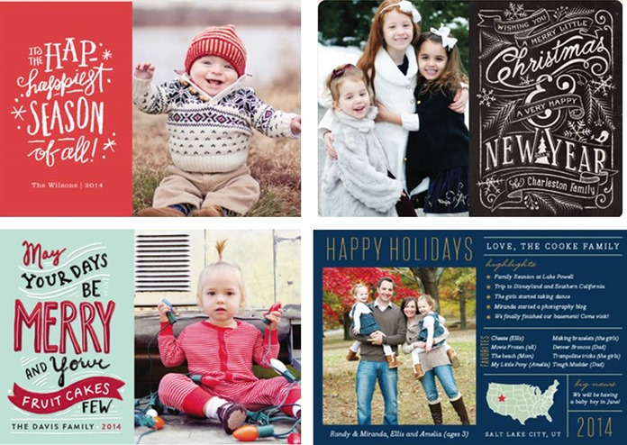 Minted.com horizontal holiday cards