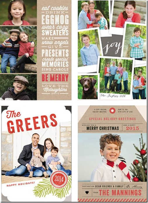 Minted.com vertical holiday cards
