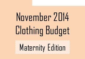 Nov 2014 clothing budget