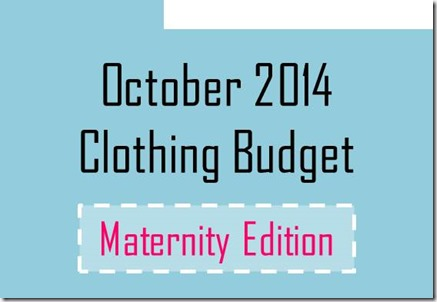 October 2014 clothing budget- maternity edition