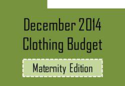 Dec 2014 clothing maternity budget
