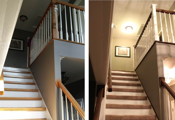 DIY Staircase Makeover main view