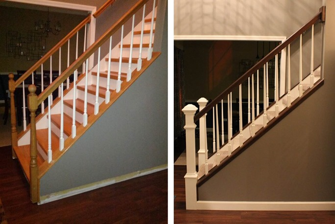 DIY Staircase Makeover side