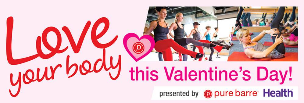 Pure Barre's Love Your Body Day on Feb 14th