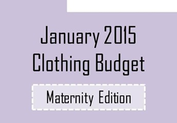 Jan 2015 clothing maternity budget
