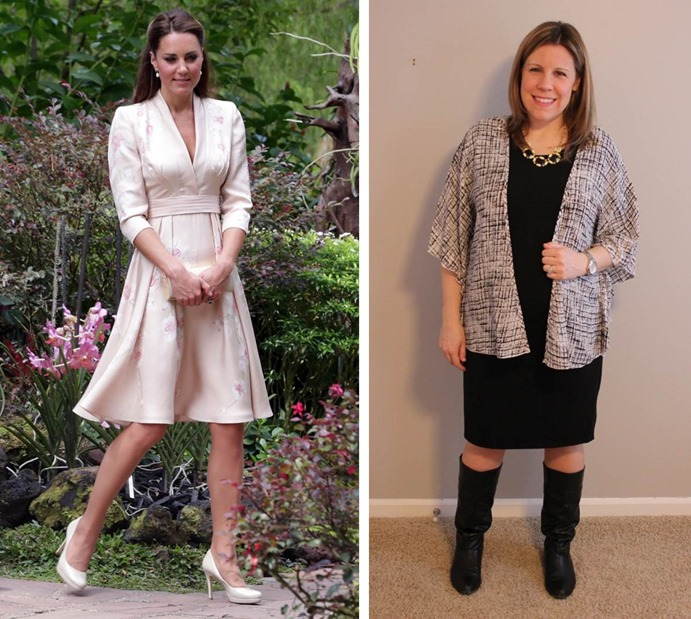 Kate Middleton kimono inspired look