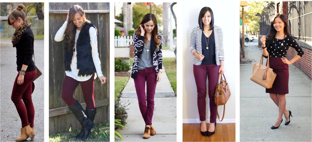Maroon and Black Outfit Inspiration