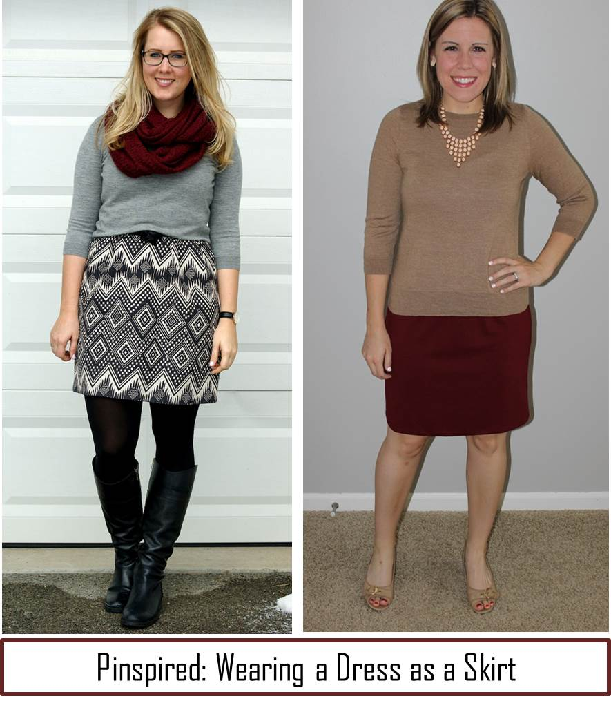 Pinspired: Wear A Dress As A Skirt