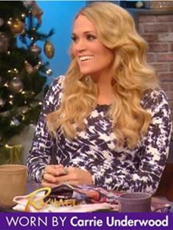 Carrie Underwood maternity dress close up