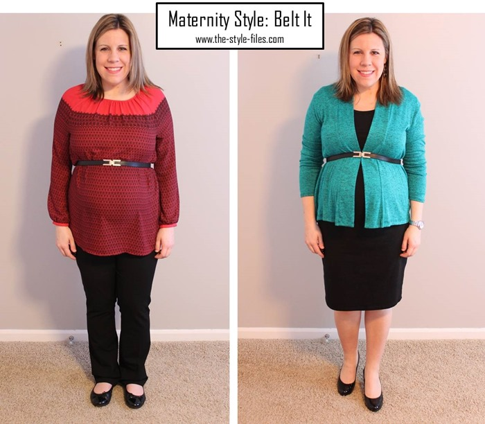 maternity style- belt it