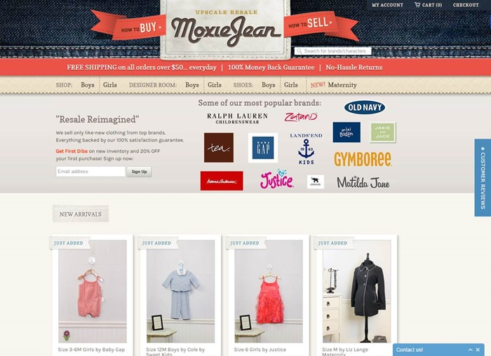 Save (and Make) Money with Moxie Jean: Resale for Babies, Kids and Maternity