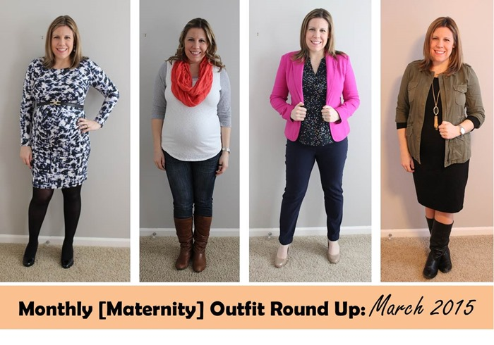 Monthly Maternity Outfit Round Up- March 2015