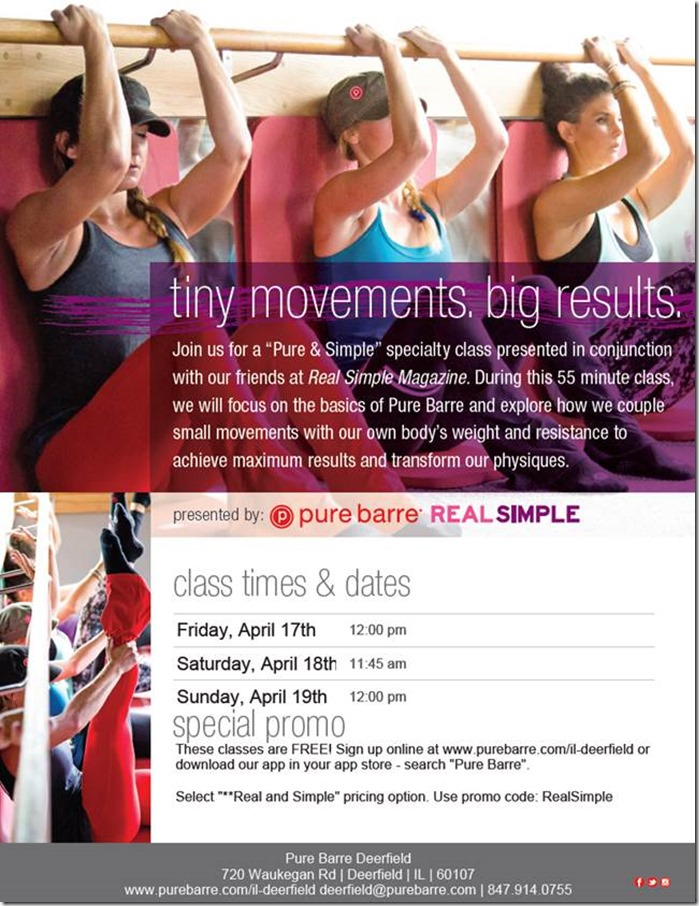 Pure Barre Pure and Simple Class- April 2015