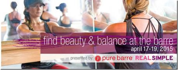Pure Barre and Real Simple April 2015