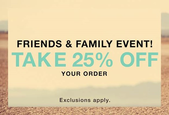 Shopbop Friends and Family Sale- April 2015