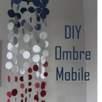 DIY Ombre Mobile