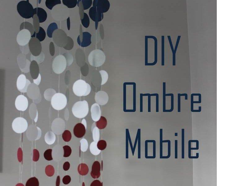 DIY Ombre Nursery Mobile